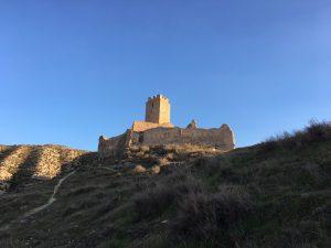Castillo de Cadrete por la tarde